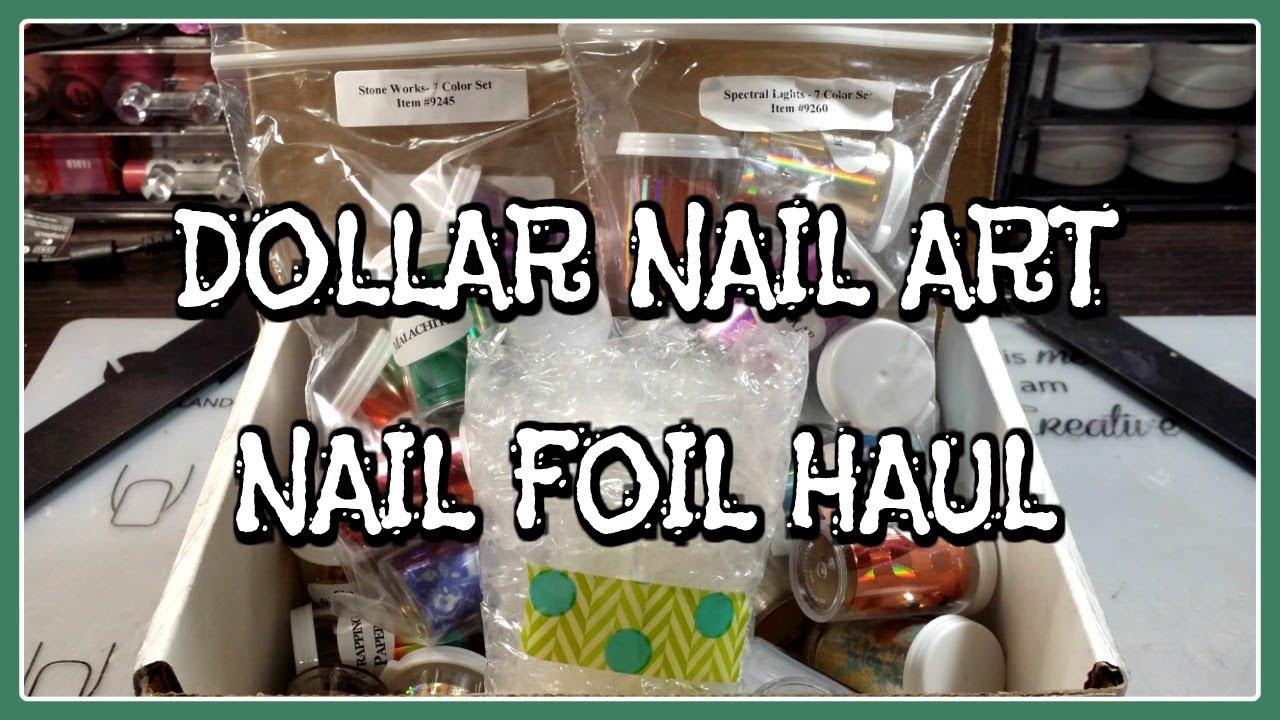 Dollar Nail Art Nail Foil Haul Youtube