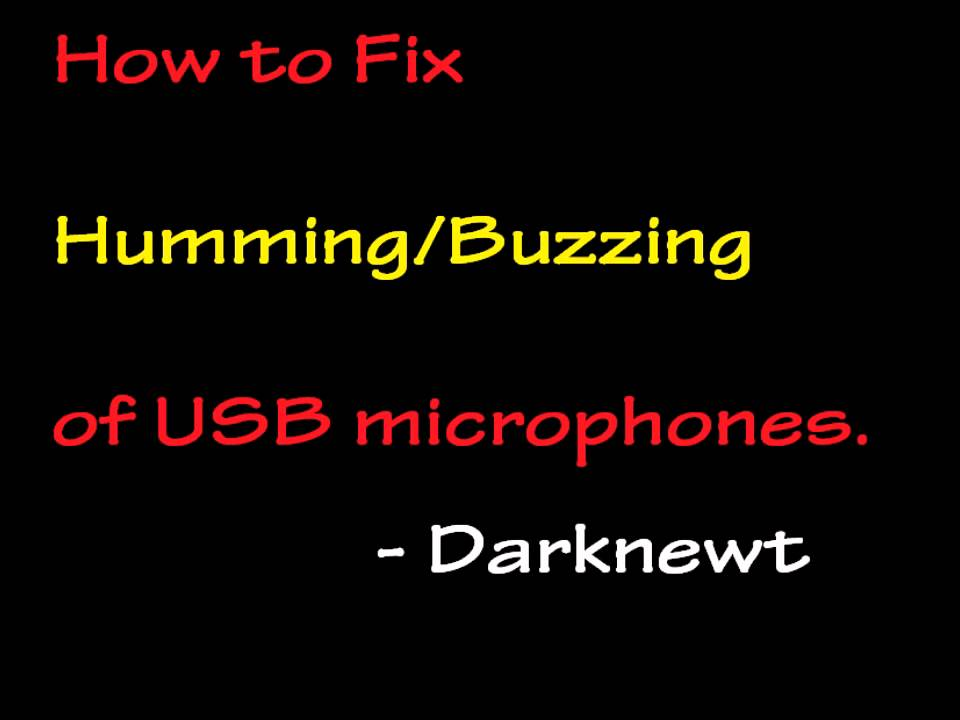 how to fix buzzing humming of usb microphone youtube. Black Bedroom Furniture Sets. Home Design Ideas