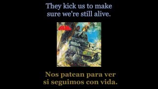 Tank - Honour And Blood - 03 - Lyrics / Subtitulos en español (NWOBHM) Traducida