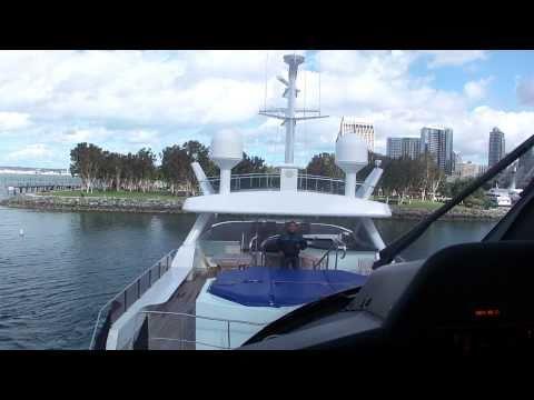 Agusta A109 yacht landing on m/y Leight Star San Diego