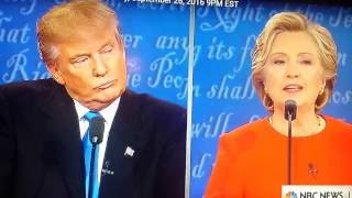 first presidential debate donald trump and hillary clinton rosie o donnell