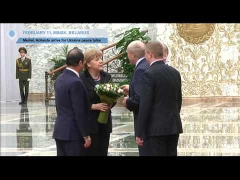 Ukraine Peace Talks: Merkel and Hollande arrive in Minsk to meet Poroshenko and Putin