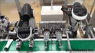 ライフロボティクス【コスメナチュラルズのチューブ製品のRカット工程へCOROを導入】