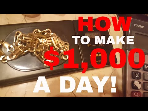 How to make $1000 dollars a day