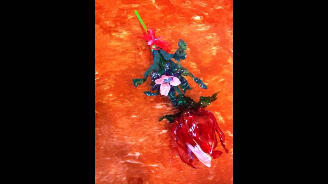 Piante/Fiori create con bottiglie di plastica - Plants / Flowers: recycling p...