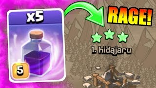 RAGE WARS IS HERE!!! 💥 Clash Of Clans 💥 ATTACKING THE TOP PLAYER IN WAR!!