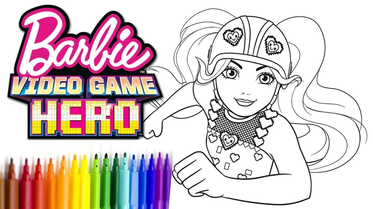 740 Coloring Pages Barbie Video Game Hero  Images