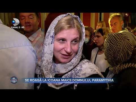 Stirile Kanal D (07.09.) - Oamenii se roaga la icoana Maicii Domnului, Paramythia!   Editie de pranz