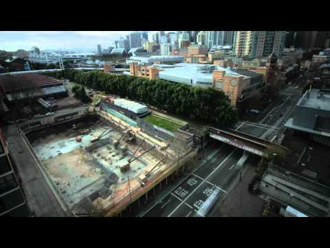 Time-lapse video of Dr Chau Chak Wing Building by Frank Gehry (August 2012)