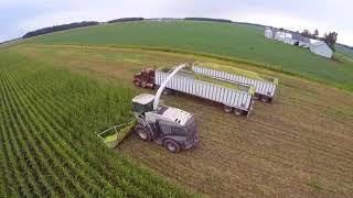 2017 Corn Silage Harvest at Convoy Dairy - Convoy Ohio