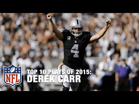 Top 10 Derek Carr Highlights of 2015 | NFL