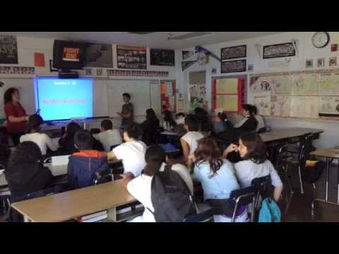 Jeopardy! review lesson with honors 8th graders