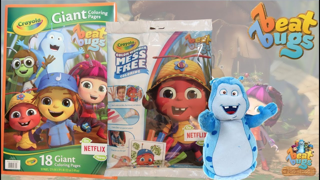 Beat Bugs Crayola Giant Coloring Pages & Color Wonder Book - YouTube