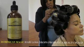 Dominican Magic Blowout: Semi Permanent Straightening