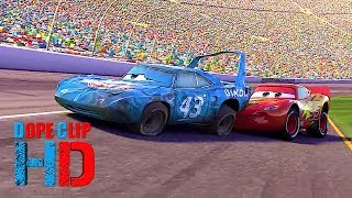 Download lagu Cars 2006 The king Crashing At Finish Line Last Race Best Ending Dopes MP3