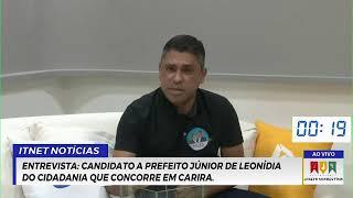 ENTREVISTA: Candidato a prefeito Júnior de Leonídia do Cidadania que concorre em Carira.