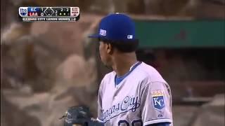 Yordano Ventura incinerates David Freese w/ his fastest 102 mph fastball