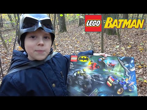 LEGO Batman и Даник против бандита в лесу! Крутые наборы с Бэтменом, Робином и их врагами