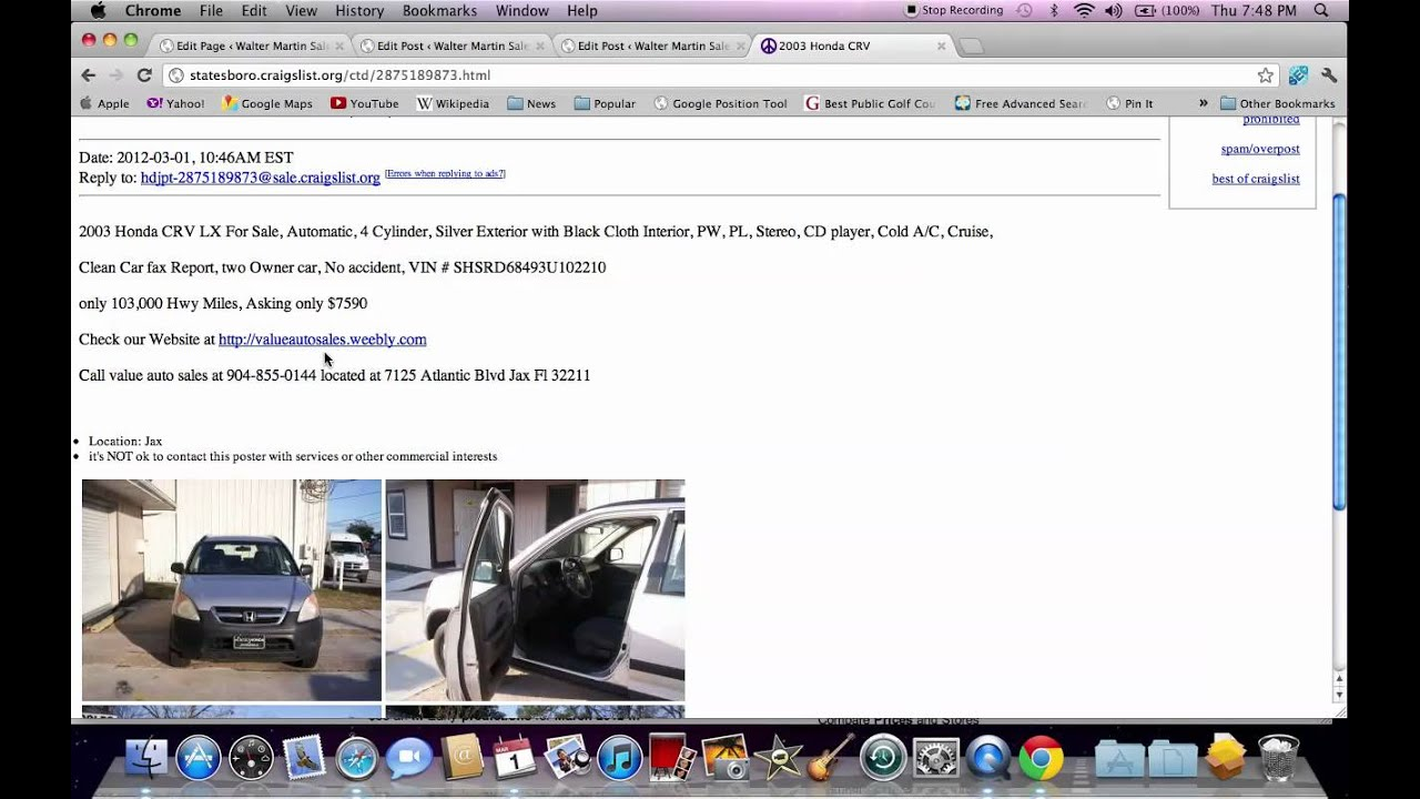 Craigslist statesboro ga used cars how to spot a scam or fake ad youtube