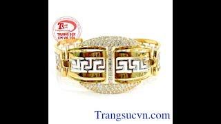 Vòng tay vàng vạn sự như ý, lắc tay vàng 18k, lắc tay nữ vàng, TSVN017682