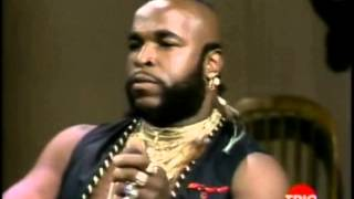 Mr T SPEAKING TRUTH ON THE LETTERMAN SHOW