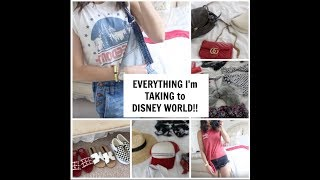 PACK WITH ME FOR DISNEY WORLD || OUTFITS & TRY ON || BATHING SUITS, SHOES + BAGS!