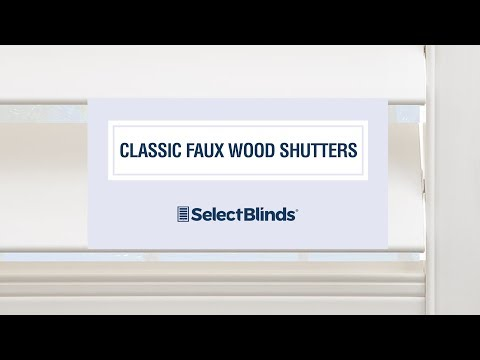 Classic Faux Wood Shutters From SelectBlinds.com