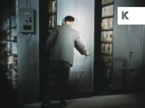 1950s, 1960s Canberra National Library, Colour Australia Archive Footage