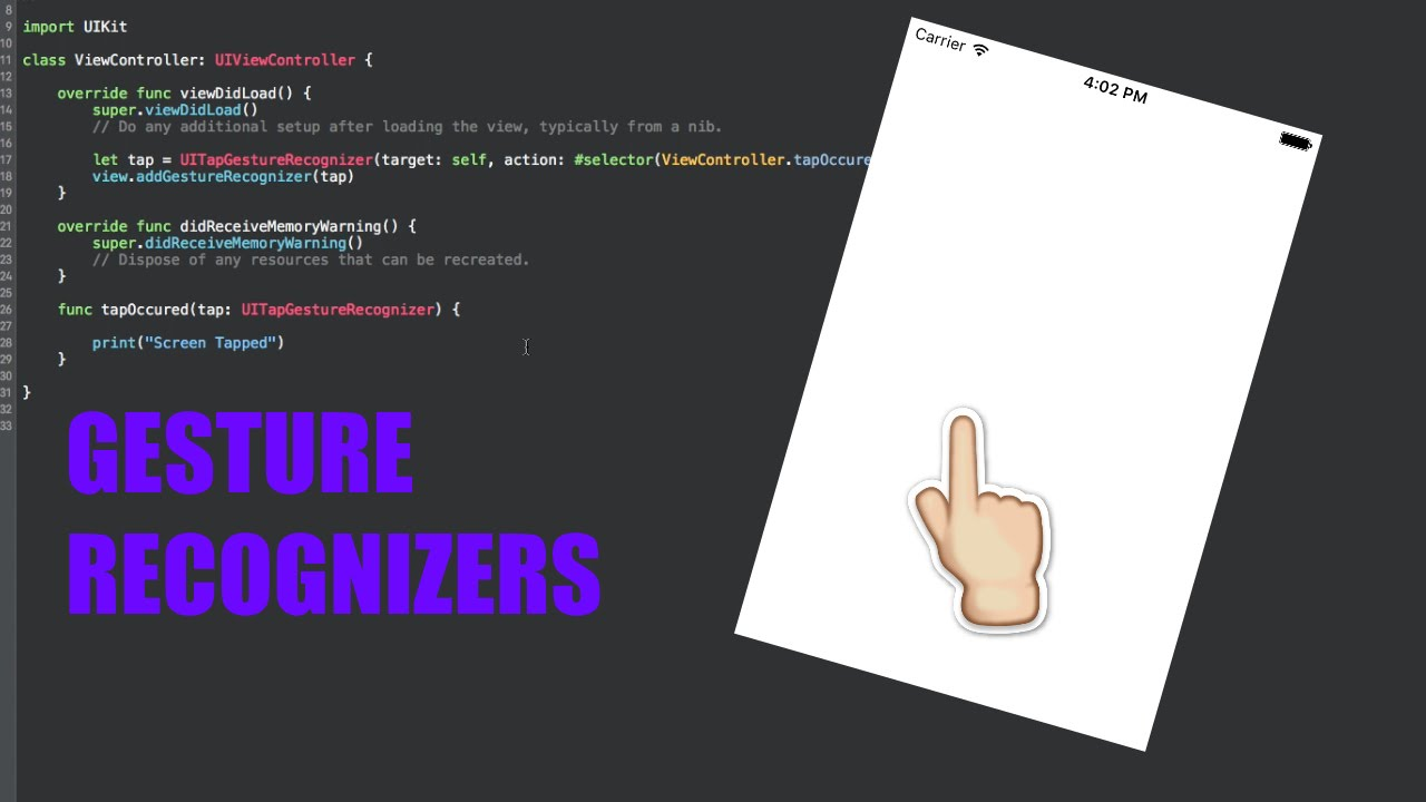 [Swift Tutorial] - How to use Gesture Recognizers