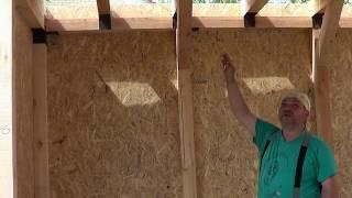 видео Каркасный гараж из дерева своими руками