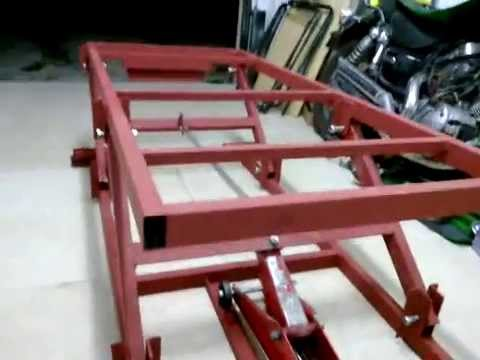 Motorcycle lift table youtube Car lift plans