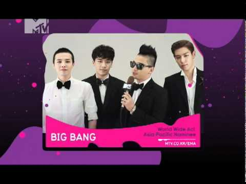 "[BIGBANG] 2011 MTV EMA ""World Wide Act - Asia Pacific Nominee"" (ENG)"