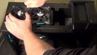 How to install a Corsair H100 and SP120 fans