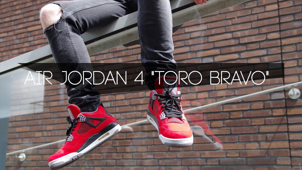 finest selection 2e25f e93dd Air Jordan 4 TORO BRAVO Plus FIT   On Feet Preview (Dutch)NL - YouTube