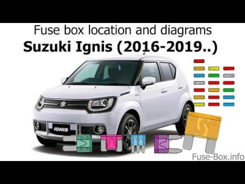 Fuse Box Location And Diagrams Suzuki Ignis 2016 2019 Youtube