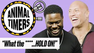 "Kevin Hart And Dwayne ""The Rock"" Johnson Get VERY Competitive 