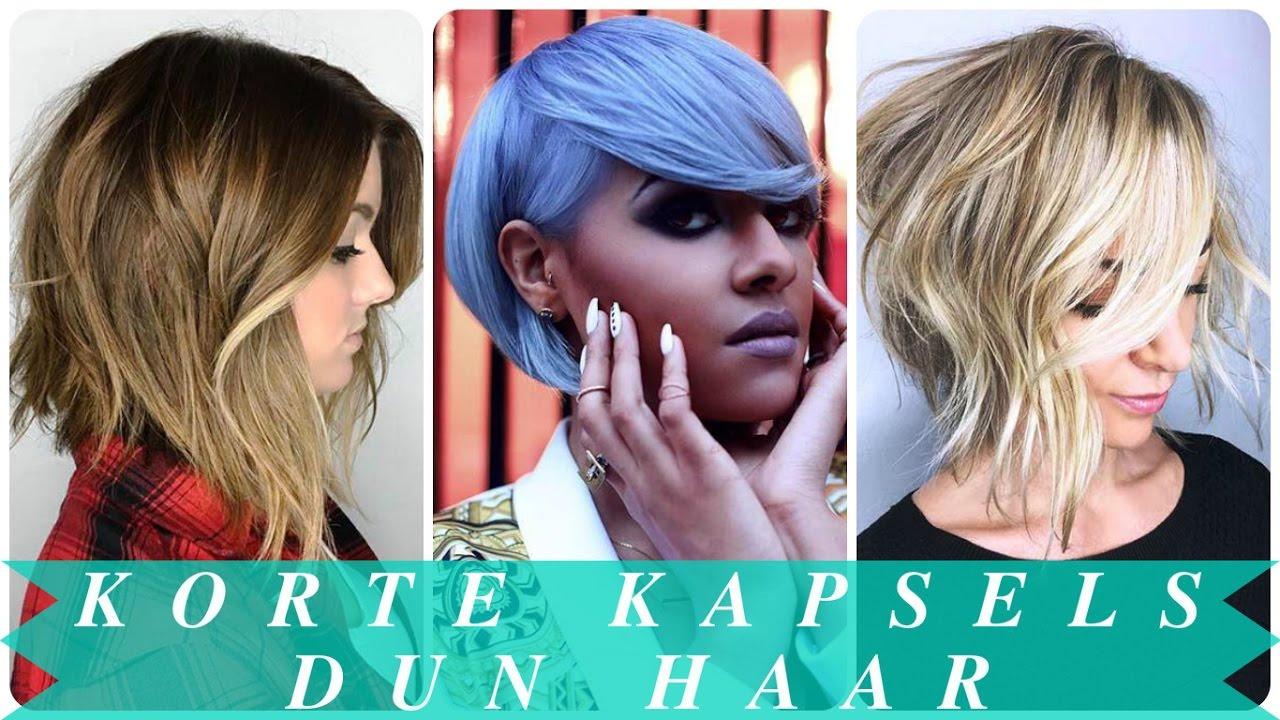 Geliefde Korte kapsels dun haar - YouTube #UP87