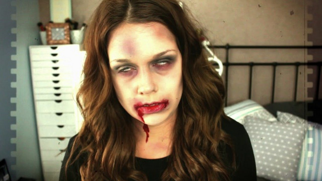 Halloween last minute makeup zombie rapide simple et tr s facile youtube - Maquillage zombie femme facile ...