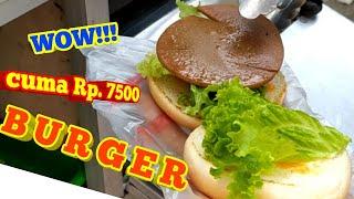 BURGER. BIG BURGER. CUMA Rp. 7500. DELICIOUS BURGER. STREET FOOD.