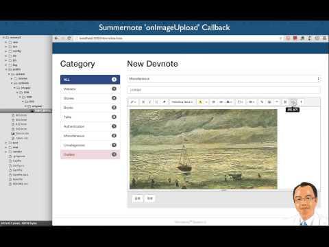 Summernote 'onImageUpload' Callback