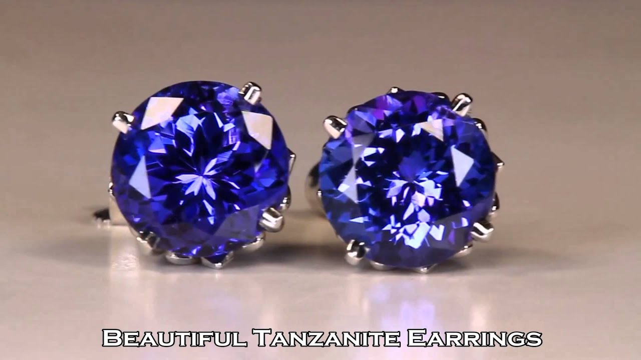 il silver stud fullxfull gemstone rough with crystals products earrings tanzanite sterling