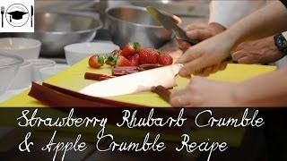 Strawberry Rhubarb Crumble & Apple Crumble Recipe