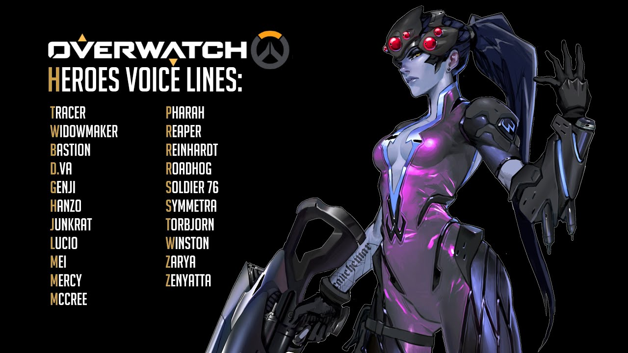 overwatch all heroes voice lines old youtube