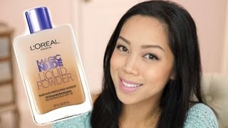 NEW Loreal Magic Nude Liquid Powder first impression review & Demo - itsjudytime