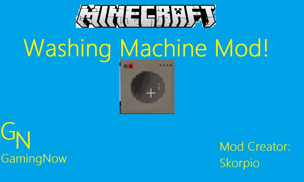 how to use a washing machine in minecraft