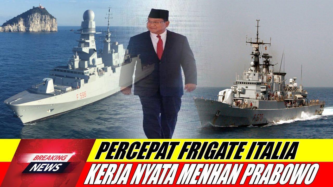Menhan Italia Lorenzo Guerini dan Menhan Prabowo Percepat Pembelian Kapal Frigate Maestrale & FREMM