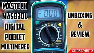 Mastech MAS830L Digital Pocket Multimeter Unboxing & Review (Hindi)