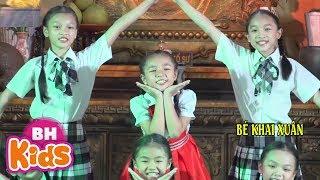 Mái Trường Em Học Bao Điều Hay - Bé Khai Xuân | Nhạc Thiếu Nhi Vui Nhộn