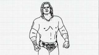 Triple H - How to draw Triple H - Video - Hunter Hearst Helmsley from WWE