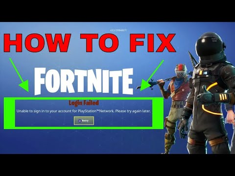 Fortnite - Unable To Sign In To Your Account For PlayStation Network (ERROR FIX)